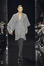 BNWOT RUNWAY ANTONIO BERARDI BELL SLEEVE COAT S.I40 WITH REMOVABLE FUR COLLAR