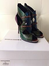 Nicholas Kirkwood Snakeskin Leather Shoes Ankle Boots 40EU 7UK
