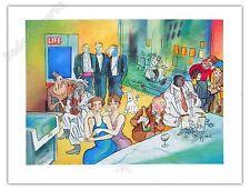 Affiche H Damave Hommage Tintin Coctel 70X89 cm