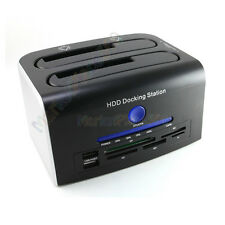 USB 3.0 SATA HARD DRIVE DOCKING BACKUP CLONE DUAL DOCK