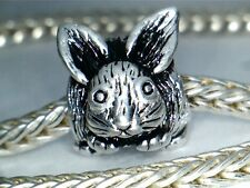 SILVER PLATED EASTER  BUNNY RABBIT  BEAD CHARM ** SEE MY STORE FOR MORE