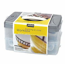 PEBEO PORCELAINE 150 WORKBOX PAINTING ON CHINA STARTER SET 10 COLOURS