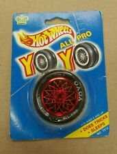 HOT WHEELS 'ALL PRO YO YO' TIRE AND RED FANCY RIM VINTAGE 1990