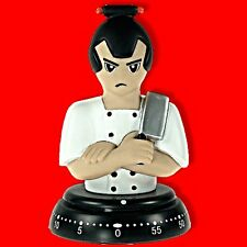 BENGT EK SUSHI CHEF NOVELTY KITCHEN COOKING EGG TIMER WIND UP MECHANICAL 60 MIN