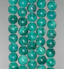 8MM GREEN TURQUOISE JASPER GEMSTONE AQUA ROUND 8MM LOOSE BEADS 16""
