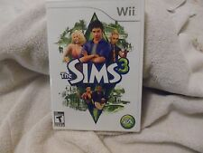 NINTENDO Wii SIMS 3 COMPLETE VIDEO GAME CD INSTRUCTION BOOKLET & CASE EC!