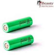 2 x Samsung INR IMR 18650 High Drain 3.7 25R 2500mAh 20 35A Battery Vape Genuine