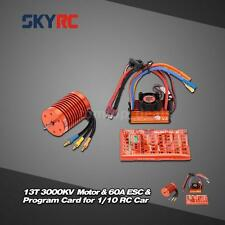 NEW SKYRC 13T 3000KV Brushless Motor & 60A ESC & Program Card Combo Set X5Q1