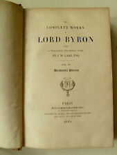 The complete works Lord Byron, Lord Byron, Literatur englische, Literatur