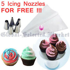 2-COLOUR DOUBLE DUAL ICING PIPING BAG CAKE CUPCAKE DECORATING SUGARCRAFT TOOL GV