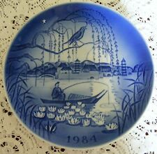"VECCHIO Copenhagen Blue & white 1984 DESIREE' Nightingale 7 1/4 ""PLATE"