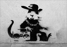 BANKSY RAP RAT vinyl wall,car,van decal sticker