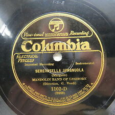 Mandolin Band of Leghorn - COLUMBIA 1102-D - Serenatella Spagnuola