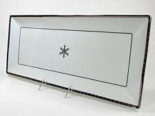 """Target Threshold ARCTIC SOLSTICE 18"""" Serving Platter Silver Snowflake Frost Ice"""