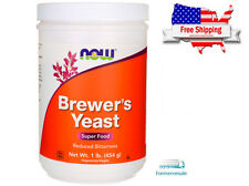 NOW Brewers Yeast Debittered 1 lb (454 Grams) Super Food Kosher Nut Free