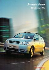 Toyota Avensis Verso Accessories 2001-03 UK Market Foldout Sales Brochure