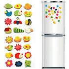 24x Cute Cartoon Animals Wooden Magnet Refrigerator Fridge Sticker Education Toy