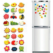 12Pc Animal Wooden Fridge Magnet/Glue Sticker Funny Refrigerator Education Toy