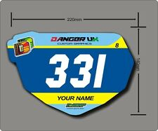 BMX Anti-Shatter Mini Race Plate (5) free number boards