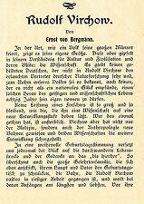 Ernst von Bergmann  Eine Würdigung zum 80. Geburtstag von Rudolf Virchow1901