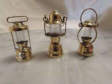 Dollhouse Miniature Coleman Lamp Set. Set of Camping Lamps