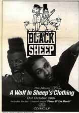26/10/91 Pgn30 Advert: Black Sheep New Album a Wolf In Sheeps Clothing 10x7