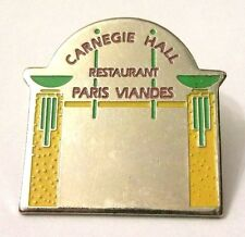 Pin Spilla Carnege Hall Restaurant Paris Viandes