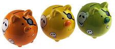 Set Of 3 Pirate Pig Piggy Bank - Ceramic Money Box For Kids