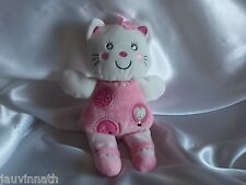 Doudou chat rose et blanc, Nicotoy, Blankie/Lovey/Newborn toy