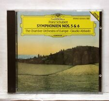 CLAUDIO ABBADO - SCHUBERT symphonies nos.5 & 6 DGG CD full silver NM