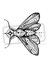 A7 'Moth Motif' Unmounted Rubber Stamp (SP00006307)