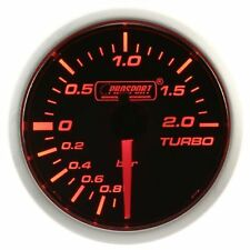 PROSPORT 52mm Amber Red & White Led Smoke Face Electrical Turbo Boost Gauge BAR