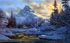 """P0457 tok hwang hatch pass snow scene Canvas Posters 24x38"""" landscape picture"""