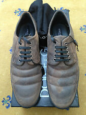 NEW DOLCE & GABBANA MENS SHOES BROWN SUEDE LACE UP UK 8.5 US 9.5 EU 42.5 D & G