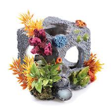 Aquarium BiOrb Fish Tank Ornament Cubic Habitat Rock Cube Cave Decoration