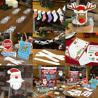 CHILDREN'S CHRISTMAS CRAFT / ACTIVITY - Kids Santa Stop Here Signs & Decorations