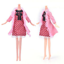 "New Beautiful Handmade Party Clothes Dress for 9"" Barbie Doll SK"