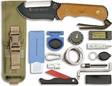 TOPS XcEST Bravo Fixed Blade Survival Knife Kit XCEST-B New Tan Sheath