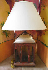 """Large 33"""" Vintage Wire Cage Table Lamp"""