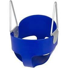 SWING SET STUFF HIGHBACK FULL BUCKET SWING BLUE WITH CHAINS AND HOOKS child 0050