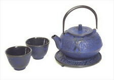 Japanese Cast Iron Teapot Cup Tea Set Bamboo #ts20-06B