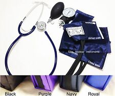 Infant & Child Blood Pressure Cuff BP Basic Stethoscope Kit PURPLE 3pc Set #311