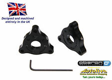 Oberon Honda CBR900RR 22mm A/F (Nut) Fork Adjusters #PRE-0001-BLACK