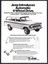 "1973 Jeep Wagoneer photo ""Introducing Quadra-Trac"" vintage promo print ad"
