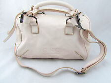 $1180 COSTUME NATIONAL Whisper Pink Leather Speedy Tote Shoulder Cross Bag New