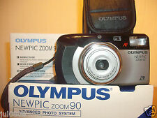 'THE CAMERA STORE' BXD OLYMPUS NEWPIC ZOOM 90 QUARTZ DATE APS FILM CAMERA JJY21