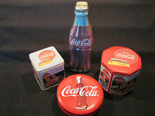 4 Coca-Cola Coke Vintage Antique Style Collectors Decorative Advertising Tins