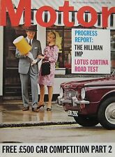 Motor magazine 17/9/1966 featuring Lotus Cortina road test, Peugeot, Chevrolet
