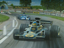 Ronnie Peterson, JPS  Lotus72, Jackie Stewart, Woodcote, Silverstone, British GP