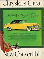 Car Chrysler New Yorker 1949 Dalmatian  paper ad 10¼ x 14 inches Tavern Trove
